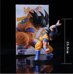 Discount dragon ball z cartoon gifts Cartoon Dragon Ball Z Figures The Monkey King Goku PVC Action Figure Toy 13.5CM Birthday Christmas Gift