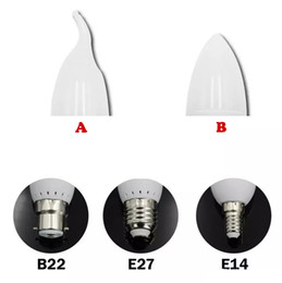 led bulb chandelier b22 Australia - 2020 LED candle lights bulbs lamp E14 E27 B22 2835 SMD Led Spotlight Chandelier led plastic shell For Home Decoration