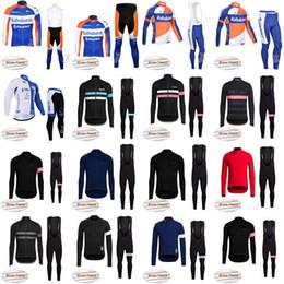 Discount jersey bib yellow - Wholesale-RABOBANK Cycling Winter Thermal Fleece jersey (bib) pants sets high quality outdoor Mtb Bike Clothing Bicycle