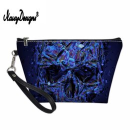 $enCountryForm.capitalKeyWord NZ - NOISYDESIGNS Skull Cosmetic Cases for Women Cool Functional Bag Girls Makeup Case Ladies Vanity Travel Cosmetic Bag Pochette