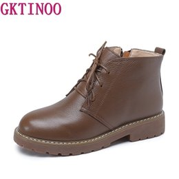 comfortable shoe brands for women 2019 - GKTINOO Brand Women Boots Ankle Boots Women Comfortable Genuine Leather for Ladies Spring Autumn Shoes discount comforta