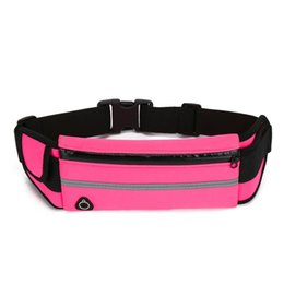pack cycling UK - 2018 Hot Sale Running Belt Waist Pack Cycling Bag Waterproof Runners Belt Phone Fanny Pack For Men and Women Hiking Workout Free DHL
