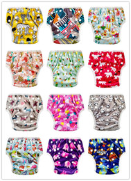 baby swimming diapers Canada - 10pc Reusable and Washable Baby Swimming Diaper Swimming Nappy Baby swiming pants