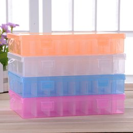 Bead Organizers Storage Containers Canada - Practical Adjustable Plastic 24 Compartment Storage Box Case Bead Rings Jewelry Display Organizer Container