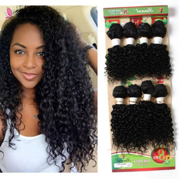 $enCountryForm.capitalKeyWord Canada - 8pcs lot kinky curly hair weaves natural color human hair extensions for black women wholesale hair bundles free shipping no shedding