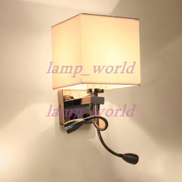 Discount wall mounted lights bedroom 2018 wall mounted lights modern led wall lamp fabric lampshade bedroom bedside sconce flexible reading light fixture aisle wall mount lighting wall mounted lights bedroom outlet aloadofball Choice Image