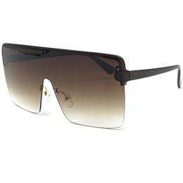 e20c89bf81 Luxury Sunglasses Rimless Conjoined Sunglasses Women Men designer sunglasses  Oversized Visor glasses Women Men Windproof Goggle Eyewear W74