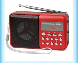 $enCountryForm.capitalKeyWord Australia - Y-888 Portable FM Digital Mini Speaker Radio with Music MP3 Function Support TF SD Card and USB Free Shipping 12003036