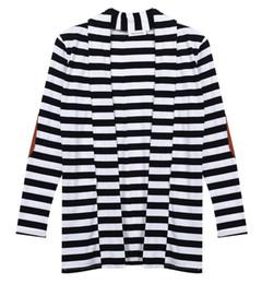 $enCountryForm.capitalKeyWord UK - 2019 new basic style Women Long Sleeve Knitted Casual Knit Poncho Coat Top black white striped cloth STOCK KS135