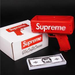 2018 Cash Cannon Money Gun Brand New dólar pistola de billetes de dinero Cash Launcher Cool red Envío gratis
