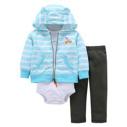 $enCountryForm.capitalKeyWord UK - light blue gray deep blue baby boy Girls 3 Pieces Set Clothes Hooded Zipper Full Sleeve Open flowers Coat+Full Sleeve Bodysuits+Pants