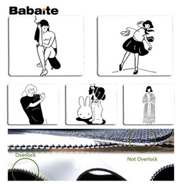 simple drawings 2019 - Babaite Hand-drawn simple illustration Silicone Pad to Mouse Game Size for 25x29cm Speed Mouse Pad cheap simple drawings
