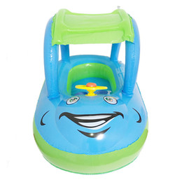 Baby Car Seat Accessories NZ - Child Inflatable Seat Float Sun Shade Cartoon Car Swimming Accessories Swim Pool Toy for 6M-36M Babies Toddler Kids