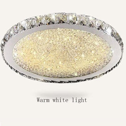 Опт Роскошный круглый светодиодный Кристалл потолочное освещение ультратонкий 6 см скрытого монтажа потолочные светильники светильник смешанный Кристалл для гостиной Спальня Кухня