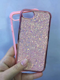 $enCountryForm.capitalKeyWord NZ - Bling Sequin Case For Iphone X 8 7 Plus 6 6S 2in1 Flake Confetti Foil Chromed Hard PC+TPU Bumper Plating Sparkle Metallic Electroplate Cover