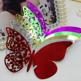 $enCountryForm.capitalKeyWord Australia - Laser Cut Place Cards With Butterfly Flowers Paper Cutting Name Cards For Party Decorations Seating Place Cards Weddings PC-B14