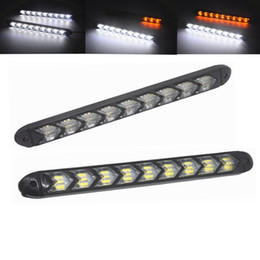 light steering NZ - 2Pcs LED DRL Daytime Running Light Car Styling Dynamic Streamer Flow Amber Turn Signal Warning Steering Fog Day Lamp