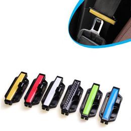 car fasteners 2019 - 2Pcs Lot Car Seat Belt Clamp Buckle Adjustment Lock Safety Belt Protection Clip Fastener for Vehicle 7 Colors Seatbelt S