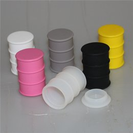 Silicone Barrel Bong NZ - 26ml Silicone Containers Food Silicone Nonstick Barrel Drum Shape Container Wax Vaporizer Dabber For Pyrex Burner Oil Rig Glass Bongs DHL