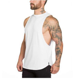 Marca Gyms Stringer Ropa Bodybuilding Tank Top Hombre Fitness Camiseta sin mangas Singlet Camisa de algodón sólido Muscle Gold Undershirt