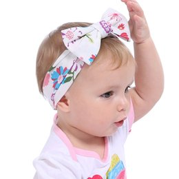 Wholesale baby girl headband designer headbands big bow floral head band vintage artist headwear lovely party accessories
