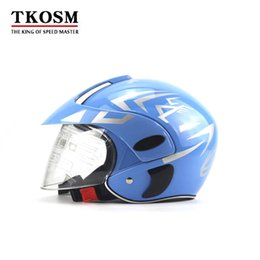 Motocicleta TKOSM Motocross Motor Da Motocicleta Capacete de Inverno Quente Confortável Motos Capacetes De Segurança Protetora Para O Miúdo 3 ~ 9 Anos de Idade venda por atacado
