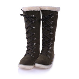 Wholesale Winter fur boots winter shoes thick Fur animals warm plus size winter boots with women shoes Zapatos Mujer XZ