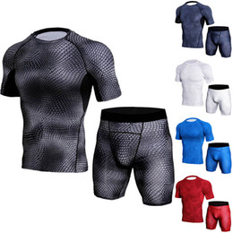 men tight suits UK - Men's mesh bodysuit suits suit speed dry pants run high elasticity training to absorb wet perspiration tight body clothes.