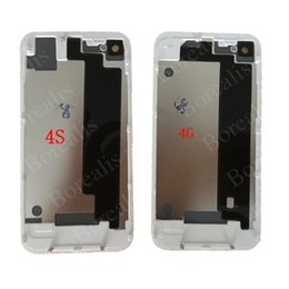 Iphone 4s battery new online shopping - 50pcs NEW High Quality Back Glass Cover Open for iPhone G s Black White Battery Door