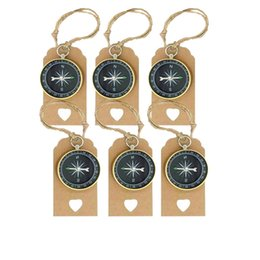 Heart sHape gift tags online shopping - Retro Compass Shape Pendant party favor wedding birthday heart Message Tags Tourism Theme Label Creative Ornament kids toy gift FFA799