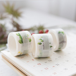 Wholesale 20 mm Wide Lovely Memo Washi Tape Flower Plants Note Adhesive Tape DIY Scrapbooking Sticker Label Masking
