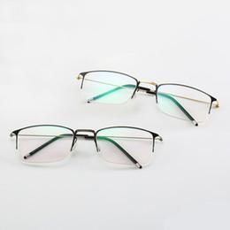 acda3ebc28d Mincl Retro square metal myopia glasses frame comfortable reading glasses  frame custom graduate optical with cover YXR