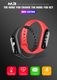 Wholesale Sleep Box NZ - New M3 Smart Band Fitness Tracker 0.87 OLED Sport Bracelet Heart Rate Blood Pressure Monitor IP67 Waterproof for IOS Android with Retail Box