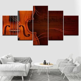 Chinese  Pictures Canvas Posters Modular Wall Artwork HD Printing 5 Pieces Classical Violin Framework Decoration Living Room Modern Paintings manufacturers