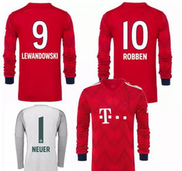 discount neuer goalkeeper jersey 2018 2019 james long sleeve bayern munich soccer jersey neuer lewan
