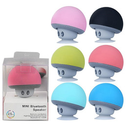Sucker Mini Speaker Australia - Cute Mushroom Mini Ornaments Wireless Bluetooth Speaker Sucker Cup Audio Receiver Music Stereo Subwoofer USB For Android IOS PC