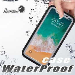 Iphone water dust proof online shopping - For Iphone X Case S7 Waterproof Case TPU Rubber Full Boday Cover For iphone plus Plus Shock proof Dust proof Underwater Diving Cases