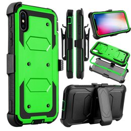 Hot Sales Iphone Case Australia - Hot Sale Heavy Duty Shockproof Armor Hybrid Hard Case + Belt Clip Stand Protective Cover For iPhone X with screen protector