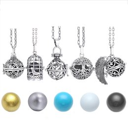 Pregnancy Chime Pendant Australia - Mexico Chime Music Angel Ball Caller Locket Necklace Vintage Pregnancy Necklace for Aromatherapy Essential Oil Pregnant Women