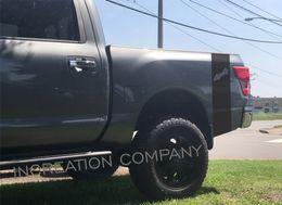 $enCountryForm.capitalKeyWord Australia - For 2 Truck vinyl side rear bed decal stripes Nissan Titan nismo 4x4 graphics 5.6 L