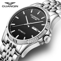 21b5fa2d8074 GUANQIN Mens Watches Top Brand Luxury Automatic Reloj mecánico 2018 Casual  Leather Sapphire Waterproof Reloj analógico Hombres