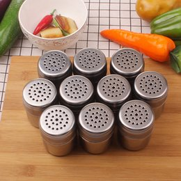 $enCountryForm.capitalKeyWord NZ - Stainless Steel Salt Pepper Shaker Kitchen Condiment Box Cooking Seasoning Bottle Barbecue Tool Free Shipping ZA5930