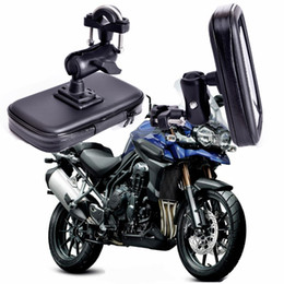$enCountryForm.capitalKeyWord Canada - 360 Rotating GPS Motorcycle Phone Holder Waterproof Bag Bicycle Phone Holder Adjustable Handlebar Support Moto Mount Card slots C18110801
