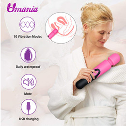 Magic Massager Vibrator Product NZ - 10 Speeds Powerful Big Vibrators for Women Magic Wand Body Massager Sex Toy For Woman Clitoris Stimulate Female Sex Products Y18102605