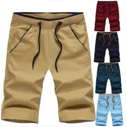 $enCountryForm.capitalKeyWord Canada - Men's Half Pants 3 Pieces a Set Solid Elastic Waist Short Pants with Drawstring Casual Cotton Cropped Trousers with Pockets Street Shorts ZL