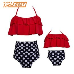 3c1c07f2cdd94 2018 family Matching Outfits Mother Daughter Swimwear Mommy Girl Matching  Flower Swimsuit Family Bikini BeachWear Suit Girl Mom