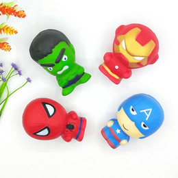 super man spider toy NZ - Super Hero Squishies Toys Kawaii Squishy Captain America Spider Man Iron Man Hulk 11CM Slow Rising Simulated Superhero Squeeze Cartoon Toy