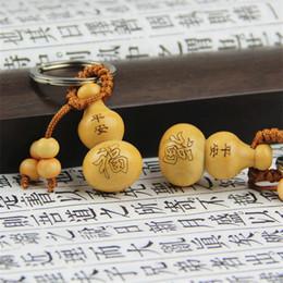 gourd pendant gold 2019 - Fashion Creative Key Chain Pendant Gourd Fu Lu Car Keybuckle Cute Girl Bag Small Gifts Key Rings 0 74xk WW cheap gourd p