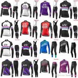 LIV team women Cycling long Sleeves jersey (bib) pants sets ropa ciclismo bike  Clothes mtb bicycle maillot ciclismo E1533 95c028984