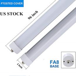 Frost Fluorescent Tubes NZ - 8ft LED Bulbs,T8 LED Light Tube Bypass Ballast,40W 5200 Lumens,6000K Cool White,Fluorescent Bulbs Replacement,with Frosted Cover 25-Packs